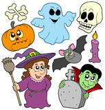 tecknad filmsamling halloween Royaltyfri Foto