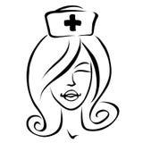 tecknad filmsjuksköterska Arkivfoton