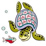 Tecknad filmsköldpadda Royaltyfria Bilder