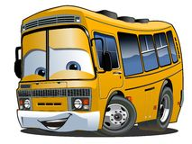 Tecknad filmskolbuss Arkivbilder