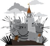 Tecknad filmslott royaltyfri illustrationer