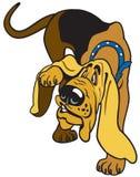 Tecknad filmspårhund Royaltyfri Bild