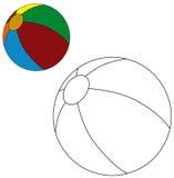 Tecknad filmsportbeståndsdel - boll - utrustning för fritidsaktivitet Arkivbild