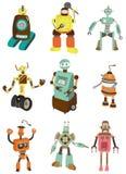 tecknad filmsymbolsrobot stock illustrationer