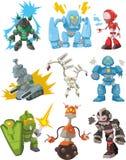 tecknad filmsymbolsrobotar vektor illustrationer