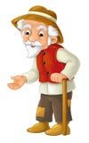 Tecknad filmtecken - den manliga bonden - gamal man - Royaltyfri Foto
