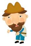 Tecknad filmtecken - illustration för barnen Royaltyfri Fotografi