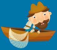 Tecknad filmtecken - illustration för barnen Arkivfoton
