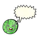 tecknad filmtennisboll med anförandebubblan Arkivbild