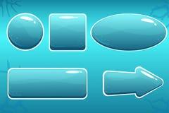 Tecknad filmvattenknappar för GUI Arkivfoto