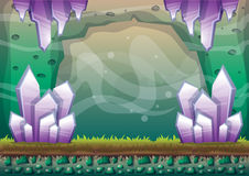 Tecknad filmvektorgrotta med avskilda lager för lek royaltyfri illustrationer