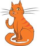 Tecknad filmvektorillustration av katten Royaltyfri Foto