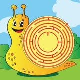 Tecknad filmvektorillustration av utbildningslabyrint eller labyrintleken Arkivbild