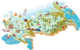 Kartlägga av Ryssland royaltyfri illustrationer