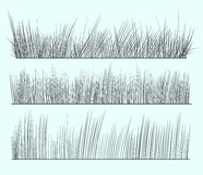 tecknad gräshand vektor illustrationer