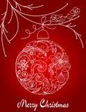 tecknad hand för boll jul Royaltyfri Foto