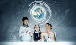 tecknad hand isolerad white för kursskolavektor Royaltyfria Foton