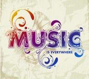 tecknad handbokstävermusik Royaltyfri Fotografi