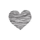 tecknad handhjärta vektor illustrationer