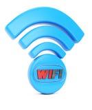 tecknad isolerad vit radio för hand symbol Arkivfoton