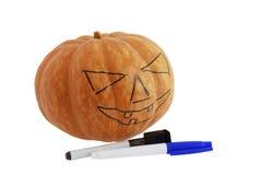 tecknad modell för halloween stålarlykta o Arkivfoto