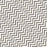tecknad seamless handmodell Abstrakt geometrisk belägga med tegel bakgrund i svartvitt Stilfull klotterlinje galler för vektor royaltyfri illustrationer