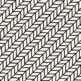 tecknad seamless handmodell Abstrakt geometrisk belägga med tegel bakgrund i svartvitt Stilfull klotterlinje galler för vektor Royaltyfri Fotografi