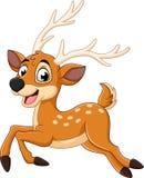 Tecknade filmen behandla som ett barn att köra för hjortar royaltyfri illustrationer