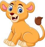 Tecknade filmen behandla som ett barn lejoninnan som isoleras på vit bakgrund vektor illustrationer