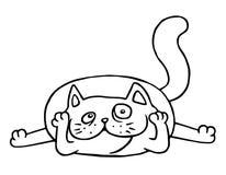Tecknade filmen beundrar katten också vektor för coreldrawillustration Fotografering för Bildbyråer