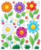 Tecknade filmen blommar samling 3 Royaltyfri Bild