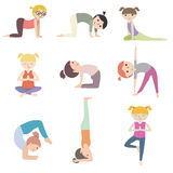 Tecknade filmen lurar yoga Royaltyfria Bilder