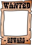 Tecknade filmen önskade affischen med Whitespace Arkivfoto