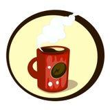 tecknade filmen rånar av kaffe stock illustrationer