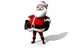 Tecknade filmen Santa Claus isolerade Arkivfoto