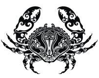 tecknade handblyertspennan för krabban skissar teckningen royaltyfri illustrationer