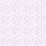 tecknade handhjärtor mönsan seamless vektor illustrationer