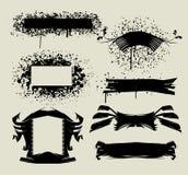 tecknade set tecken för hand stock illustrationer