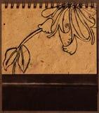 tecknande blom- hand Arkivbilder