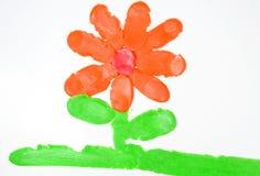 tecknande blommaplasticine Royaltyfria Bilder