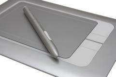 tecknande elektronisk penntablet Arkivfoton