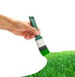 tecknande gräs Arkivfoto