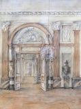 tecknande interior Royaltyfria Bilder