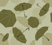 tecknande seamless paraplyer Royaltyfri Foto