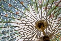 tecknande thai paraply för blomma Royaltyfri Bild