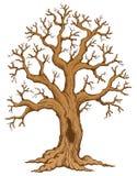 tecknande tree för tema 2 Arkivbilder