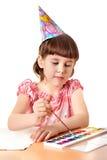 tecknar flickan royaltyfri fotografi