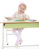 tecknar flickan fotografering för bildbyråer