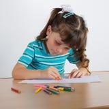 tecknar flickan little arkivfoto