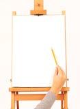 tecknar handen royaltyfri foto